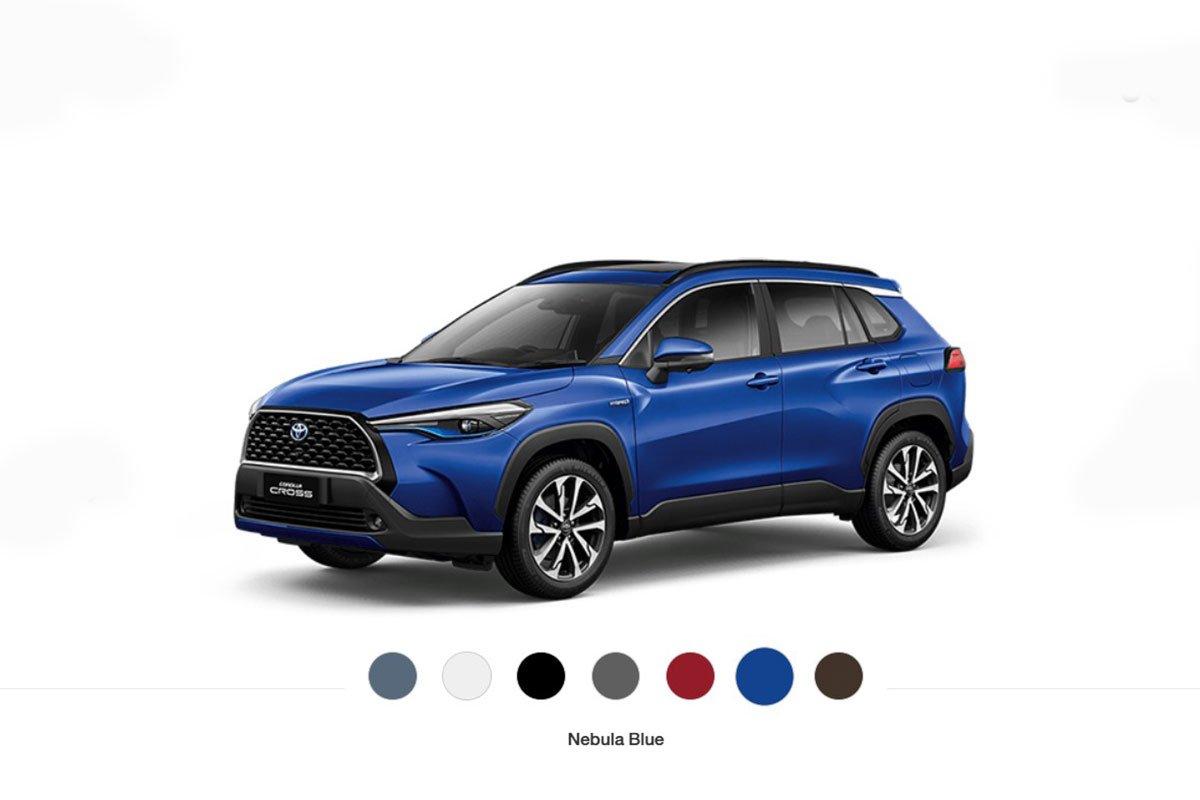 Có 7 màu sắc ngoại thất dành cho Toyota Corolla Cross.