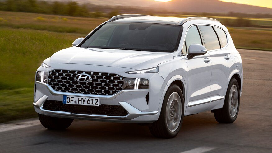 Đầu xe Hyundai Santa Fe 2021 facelift - 2.