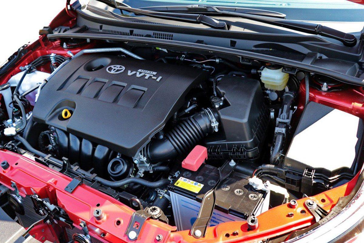 Động cơ 1.8L trên Toyota Corolla Altis 2020 không thay đổi so với phiên bản cũ.