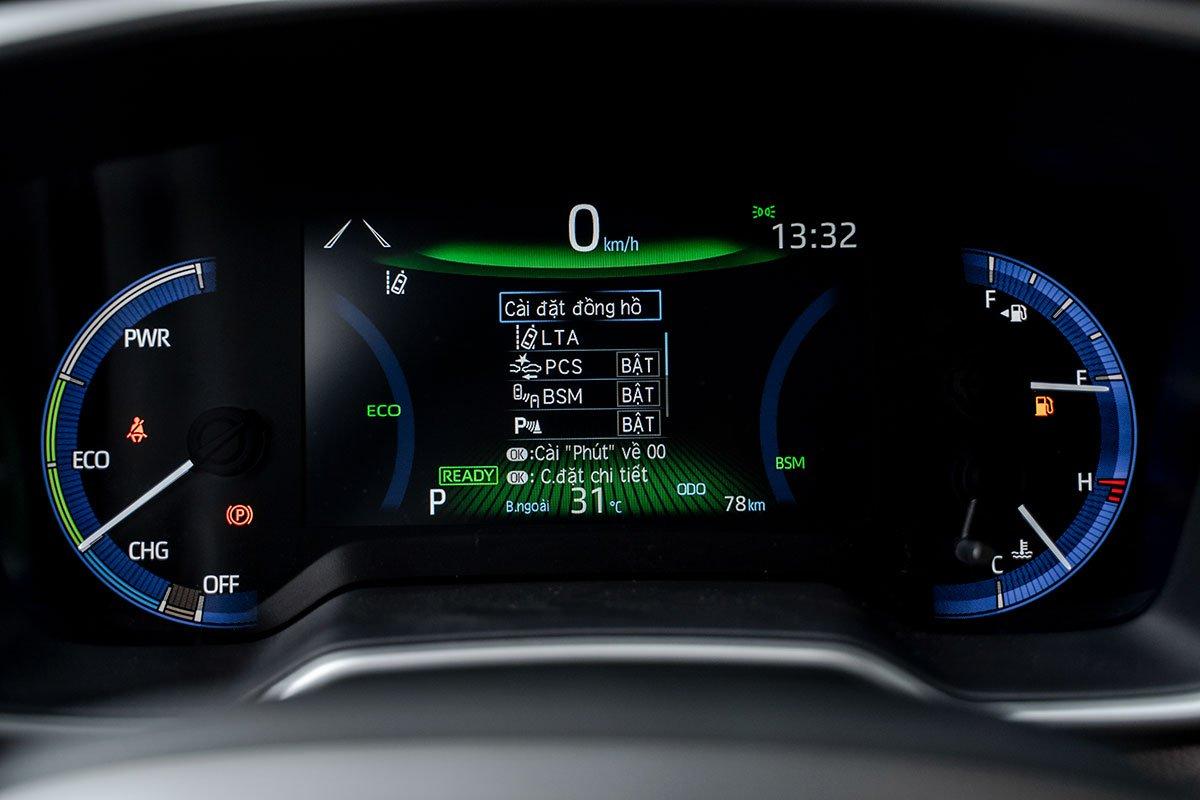 Ảnh đồng hồ xe Toyota Corolla Cross 2020