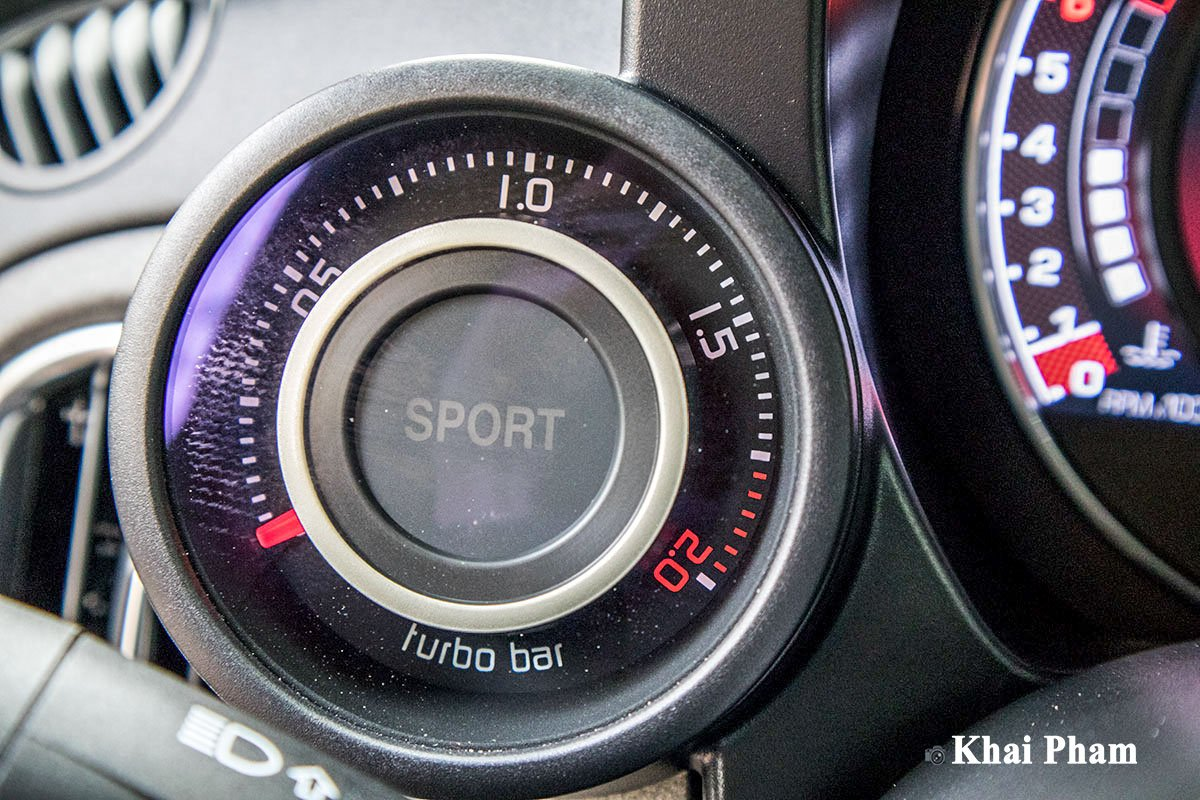 Ảnh Đồng hồ Sport xe Fiat 500 595 Abarth Esseesse 2020 sáng