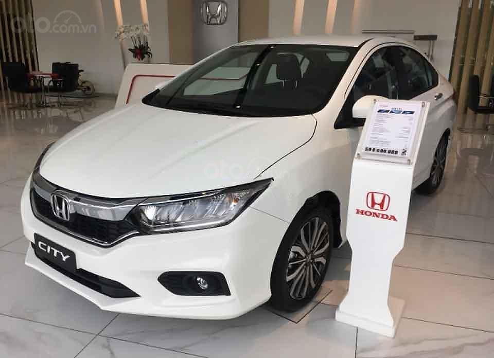 Bán Honda City sản xuất 2020, màu trắng, giá 599tr (1)