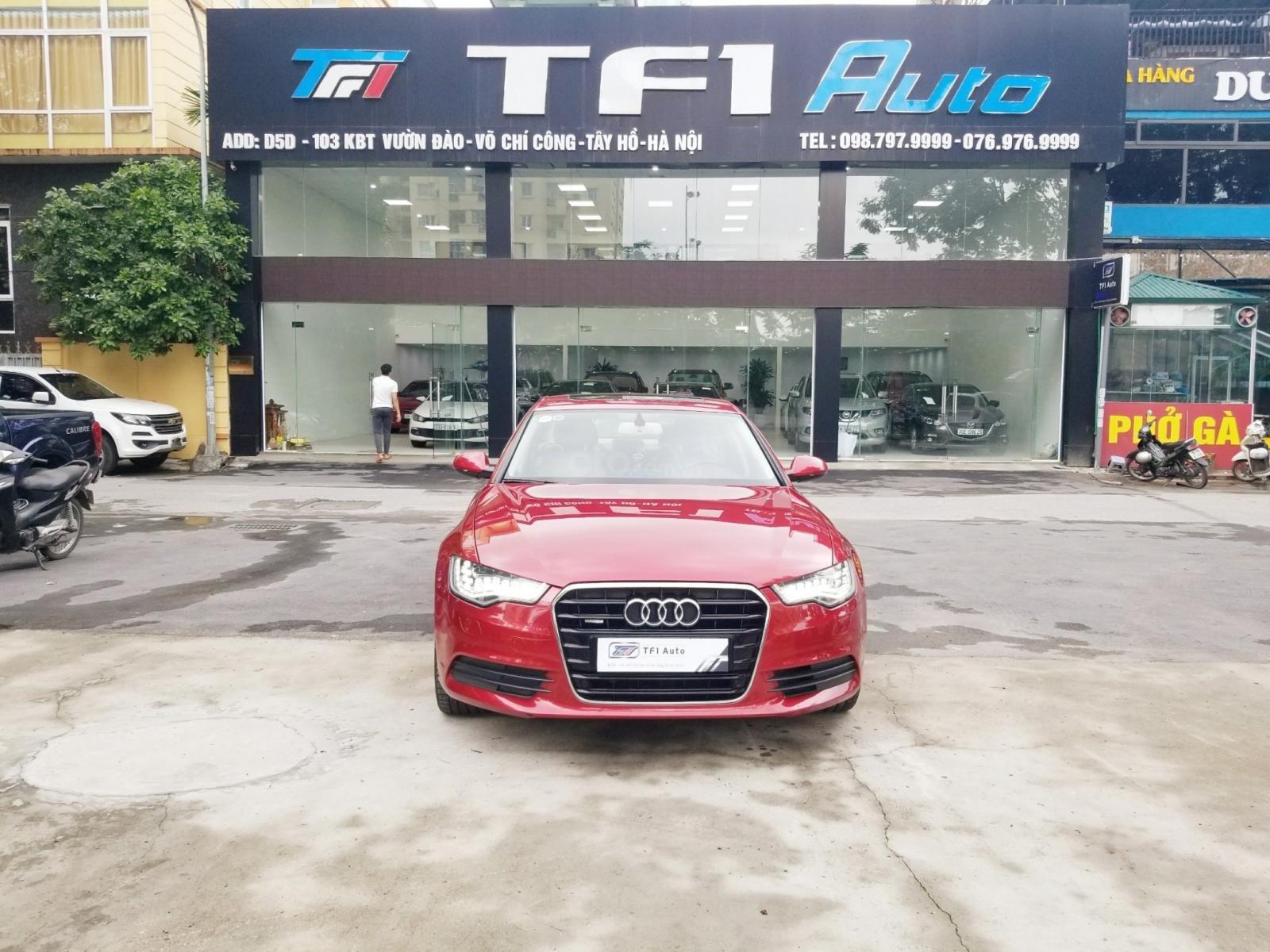 Bán Audi A6 3.0L sản xuất 2014, đăng ký 2015, màu đỏ (6)