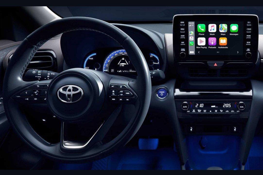 Đánh giá xe Toyota Yaris Cross 2021 về hệ thống thông tin giải trí.