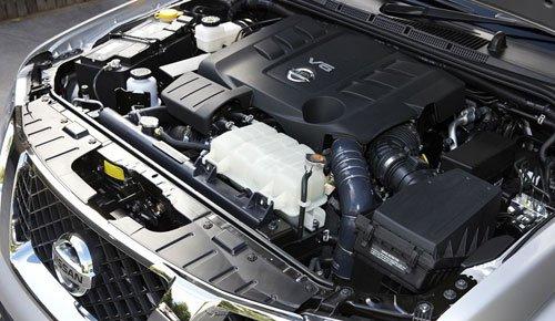 Động cơ V6 của Nissan.
