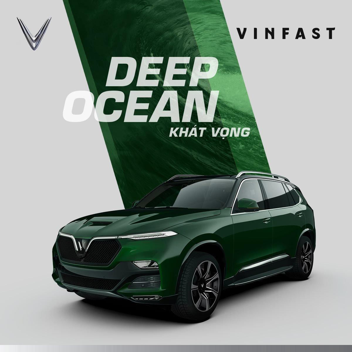 VinFast President màu xanh lá cây.