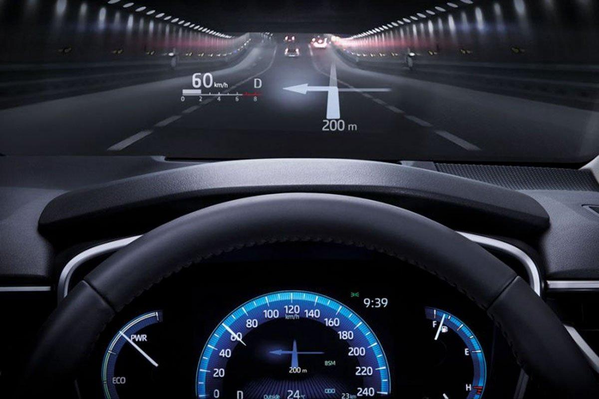 Ảnh HUD xe Toyota Corolla Altis 2021