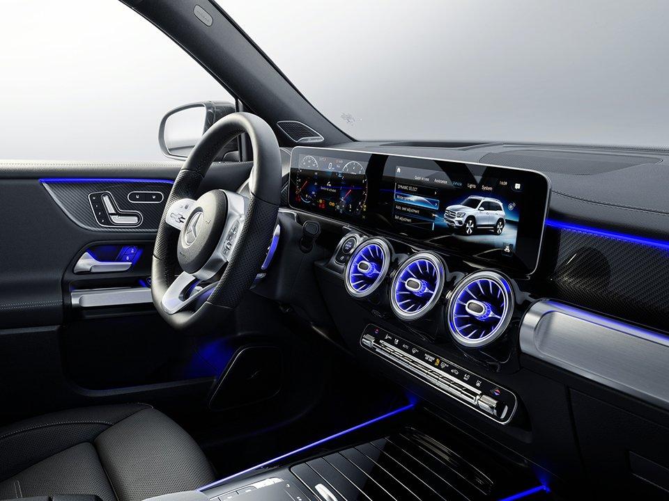 Nội thất Mercedes-Benz GLB 200 4Matic 2021.