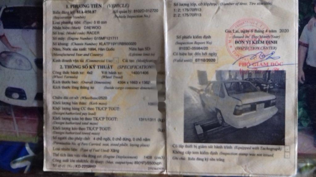 Cần bán Daewoo Racer 1994, màu trắng, nhập khẩu nguyên chiếc (5)