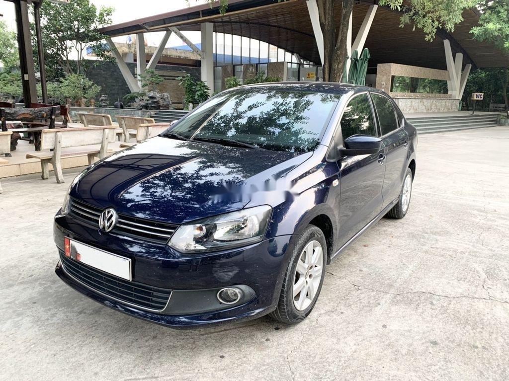 Bán Volkswagen Polo 1.6AT sản xuất 2015, màu xanh lam, nhập khẩu  (1)