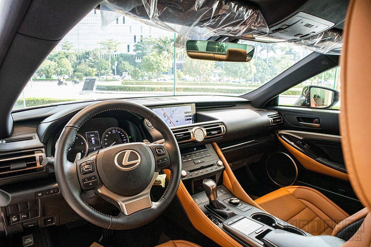 Nội thất Lexus RC 2021 mới nhất.