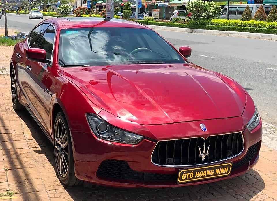 Bán xe Maserati Ghibli đời 2016, màu đỏ, xe nhập   (3)