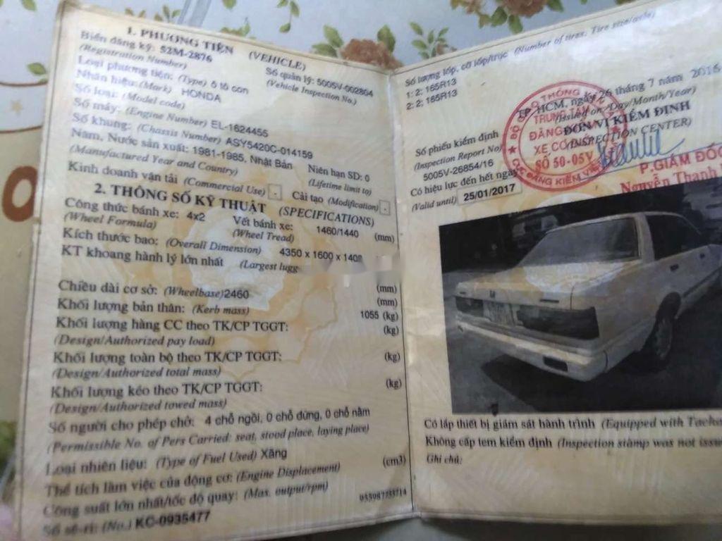 Bán Honda Accord sản xuất 1985, màu trắng, nhập khẩu, 10tr (2)