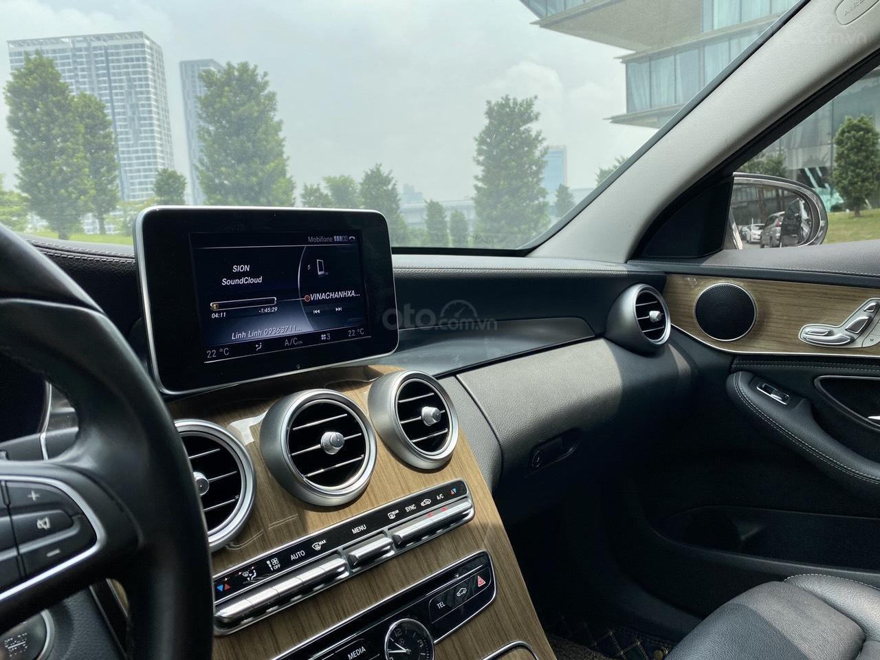 Mercedes C250 SX 2015 model 2016 màu trắng nội thất đen (8)