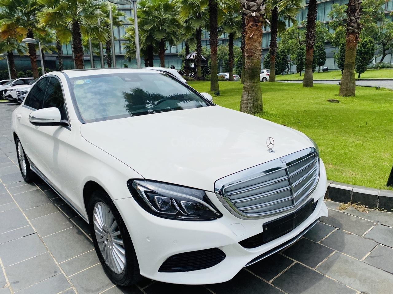 Mercedes C250 SX 2015 model 2016 màu trắng nội thất đen (7)
