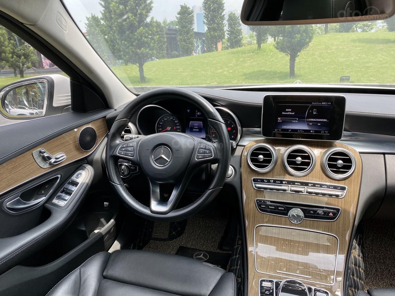 Mercedes C250 SX 2015 model 2016 màu trắng nội thất đen (13)