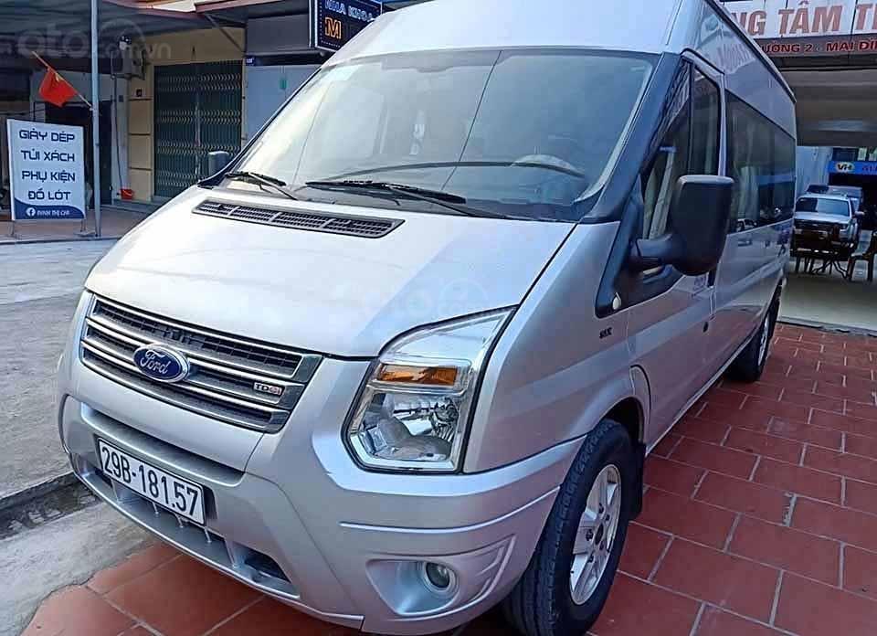 Cần bán gấp Ford Transit đời 2015, màu bạc, giá 380tr (1)