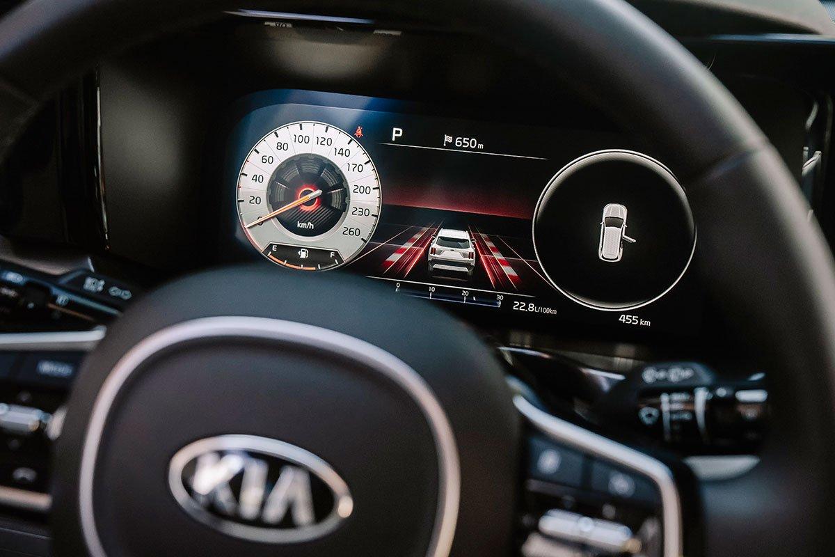 Bảng đồng hồ kỹ thuật số trên Kia Sorento 2020.