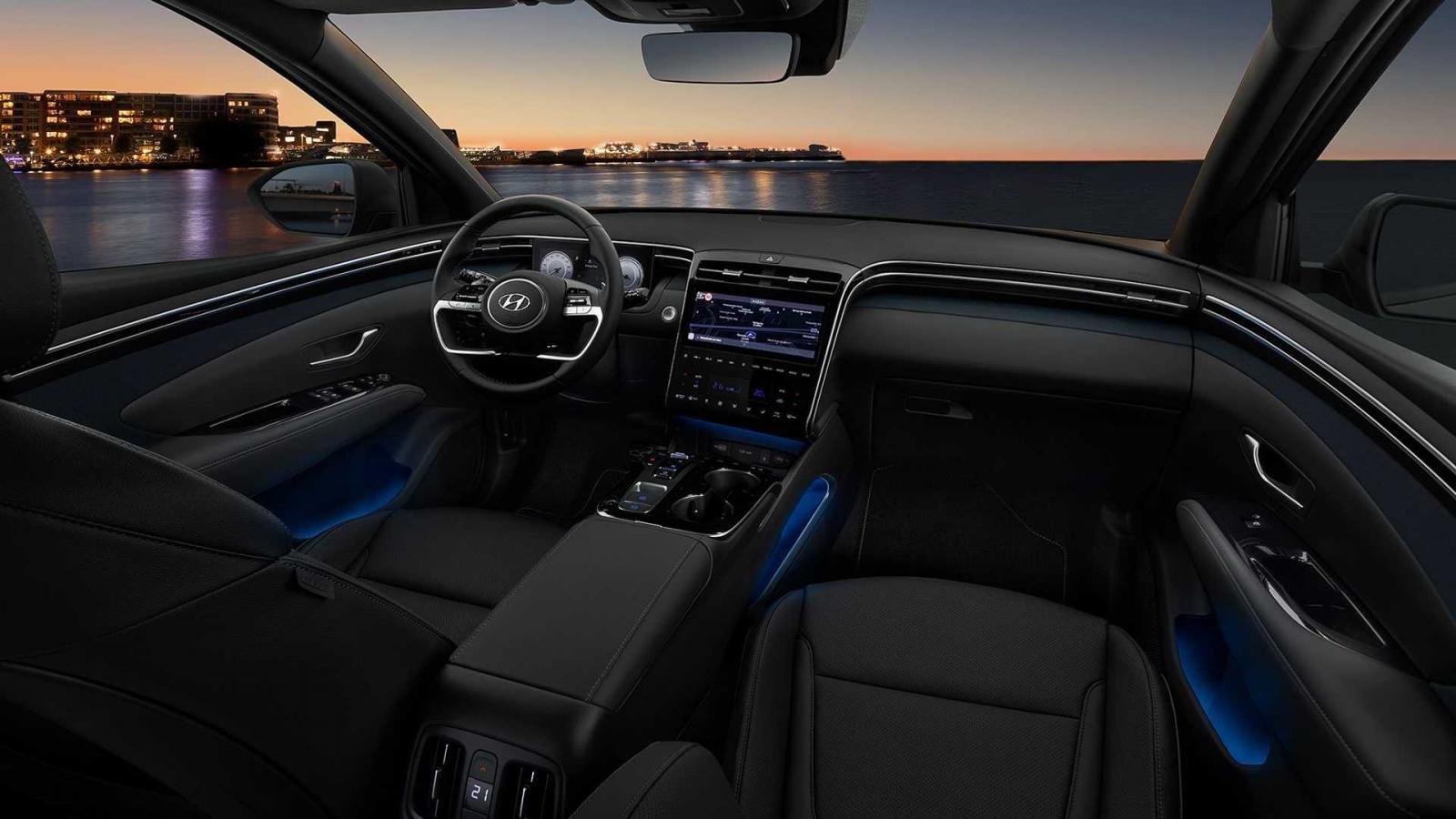 Hyundai Tucson 2022 trang bị tiện nghi và thông minh.