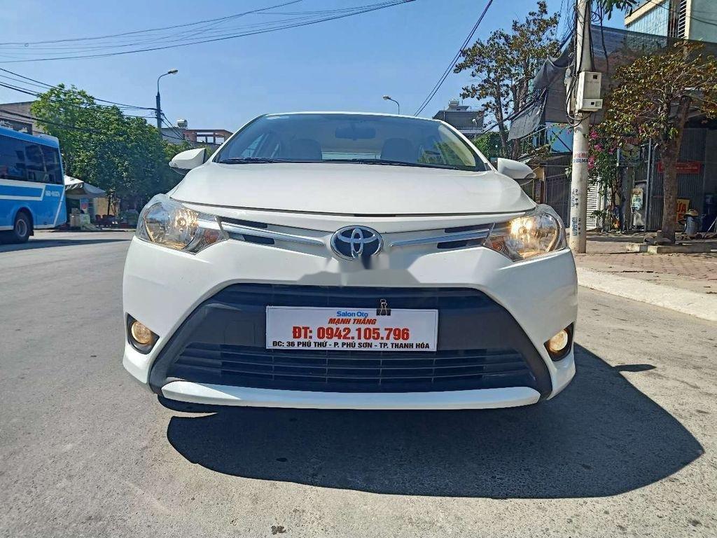 Bán Toyota Vios 1.5E đời 2018, màu trắng số sàn, đẹp xuất sắc (1)