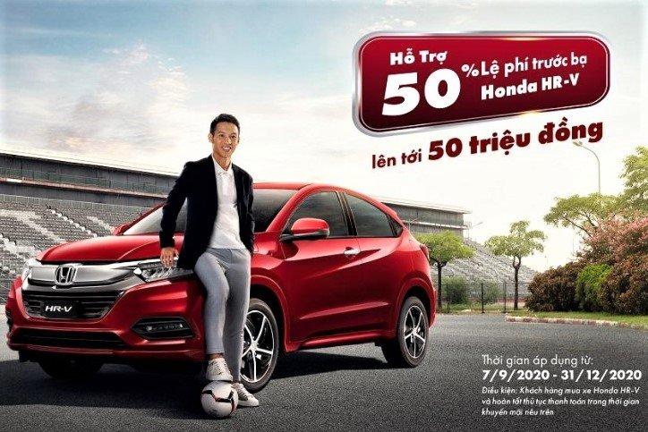 Honda HR-V được hỗ trợ 50% lệ phí trước bạ đến hết 2020