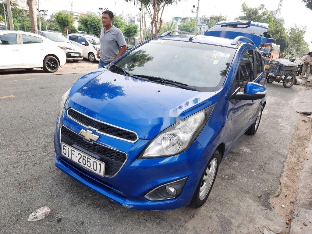 Xe Chevrolet Spark 2015, màu xanh lam còn mới (8)