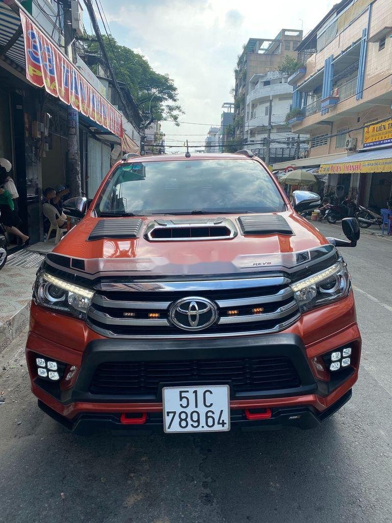 Bán Toyota Hilux 3.0G năm sản xuất 2016, màu đỏ, xe nhập   (2)