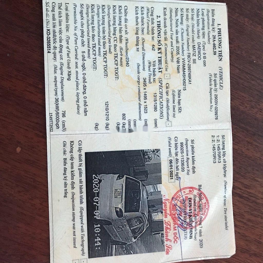 Cần bán lại xe Daewoo Matiz 2005, màu kem (be) còn mới (9)