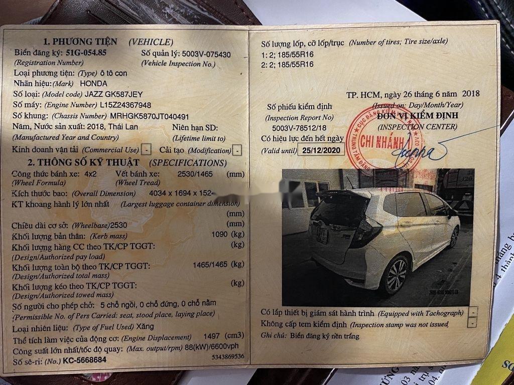 Bán Honda Jazz 2018, màu trắng, xe nhập xe gia đình, 520tr (5)