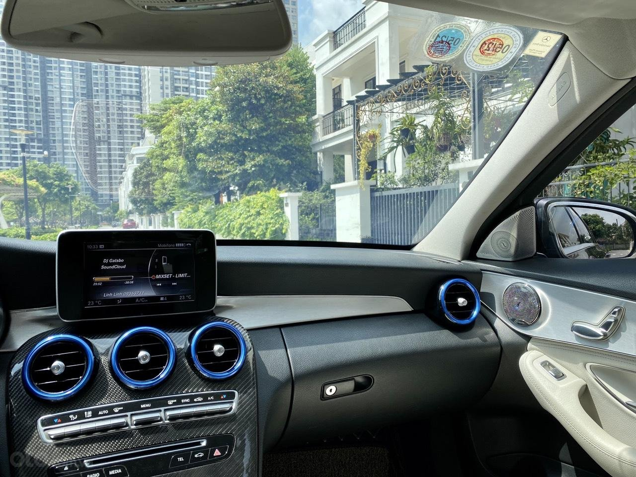 Mercedes C200 sx 2015, đk 2016, màu đen, nội thất kem (11)