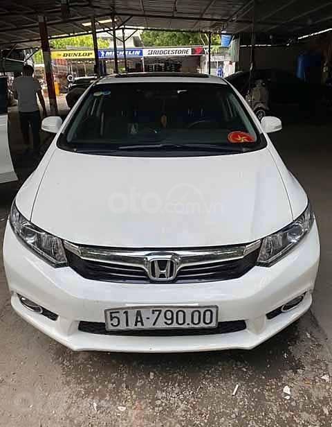 Bán Honda Civic năm sản xuất 2014, màu trắng, chính chủ (1)