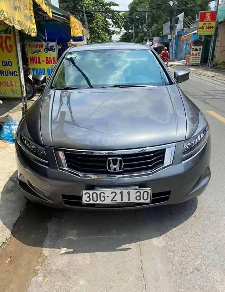 Bán Honda Accord năm 2008, màu xám, nhập khẩu  (1)