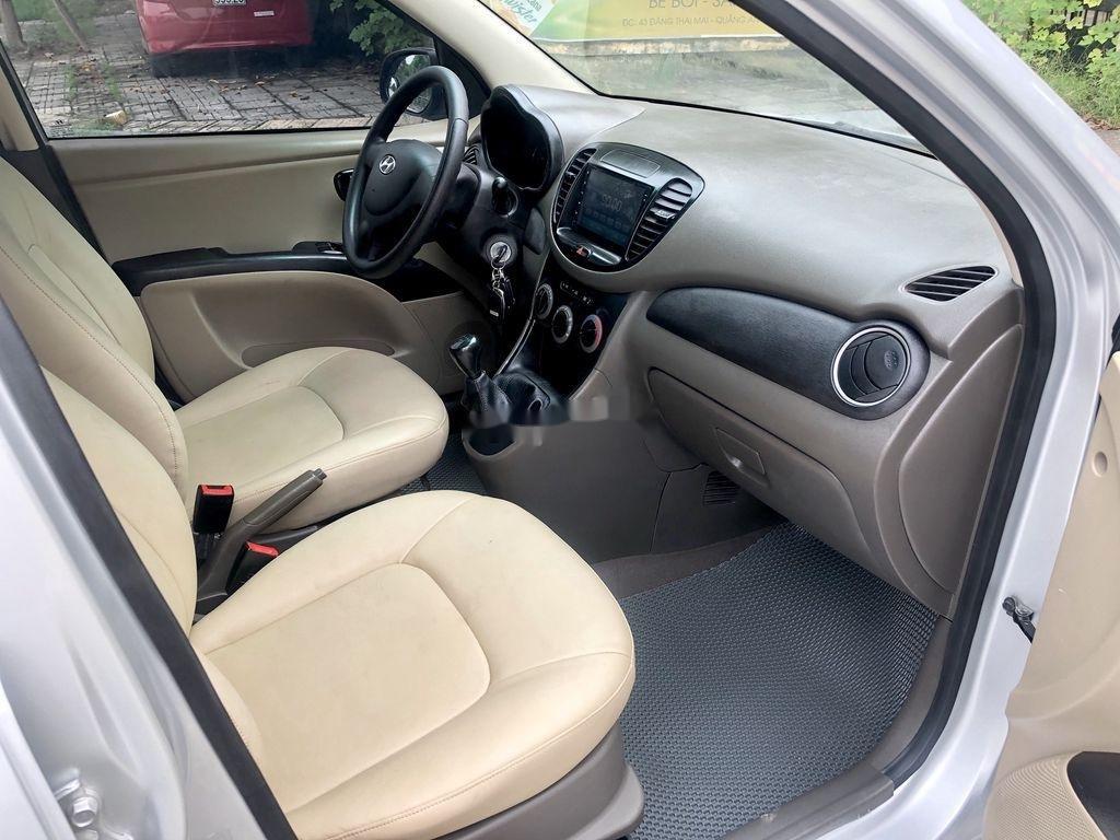 Cần bán lại xe Hyundai Grand i10 đời 2014, màu bạc, nhập khẩu nguyên chiếc  (8)