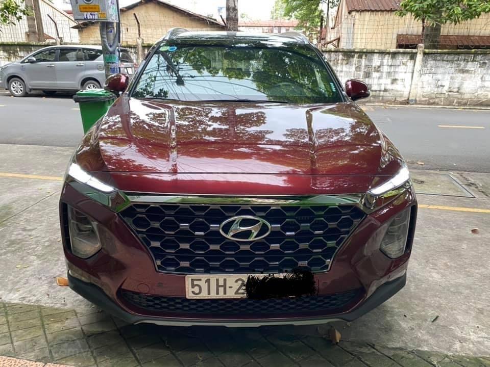 Xe Hyundai Santa Fe sx 2019, màu đỏ chính chủ giá 1 tỷ 199 triệu đồng (2)