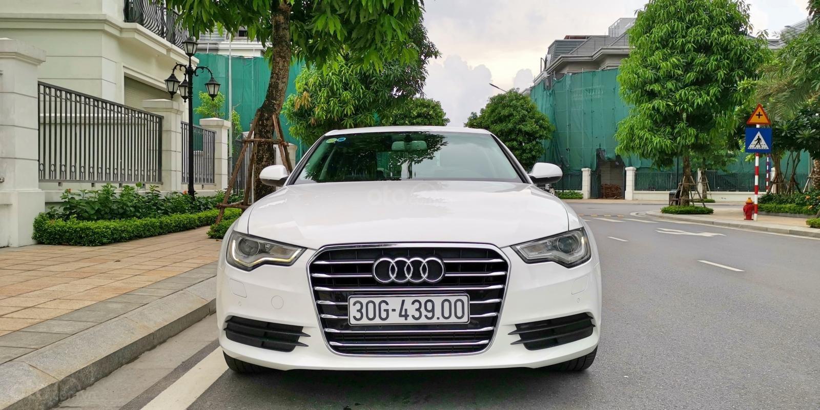 Cần bán lại xe Audi A6 đời 2013, màu trắng, nhập khẩu (2)