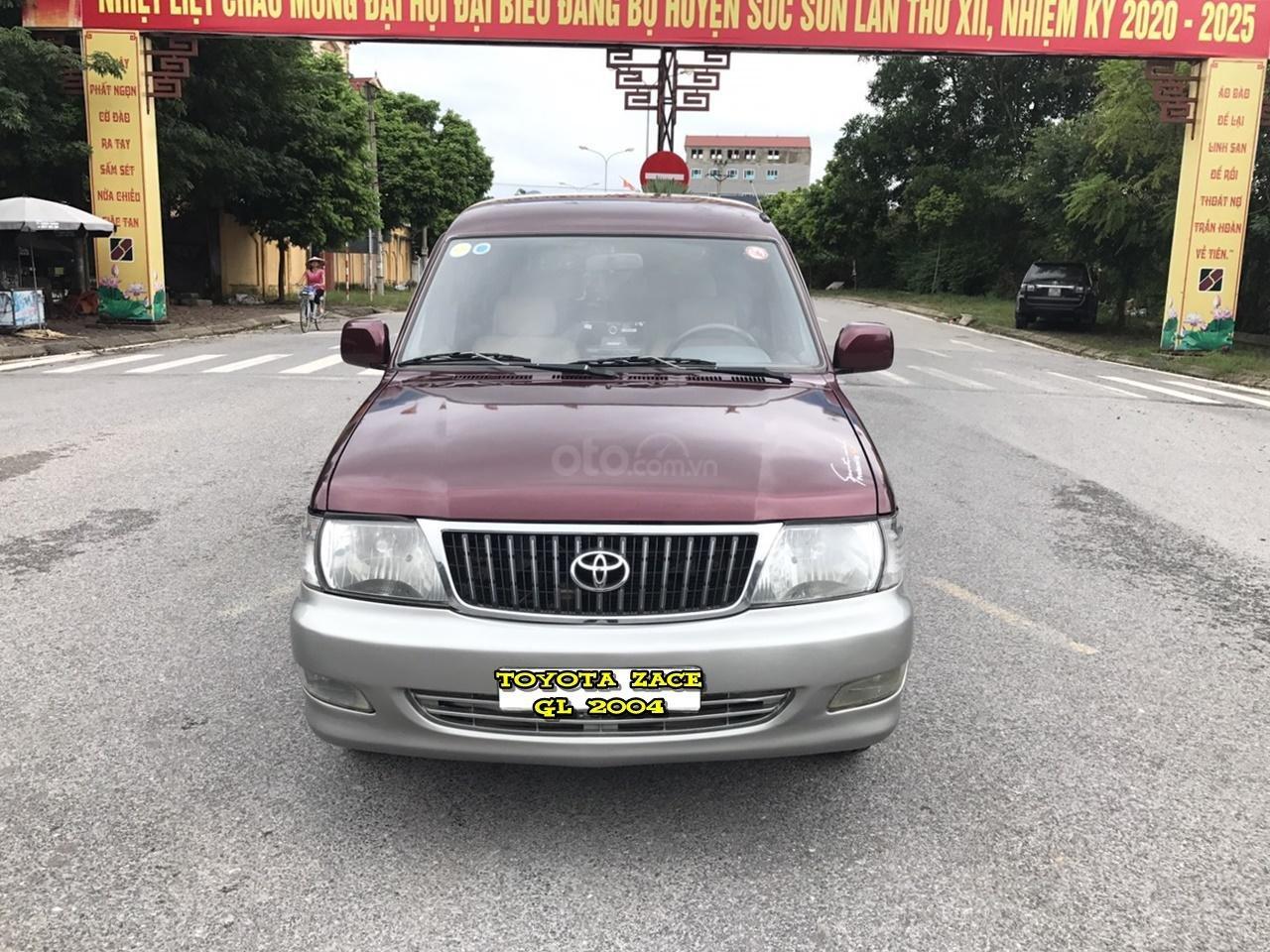 Toyota Zace GL cuối 2004, màu đỏ, chính 1 chủ biển 4 số sử dụng từ mới, nói không với lỗi nhỏ, mới nhất Việt Nam (1)