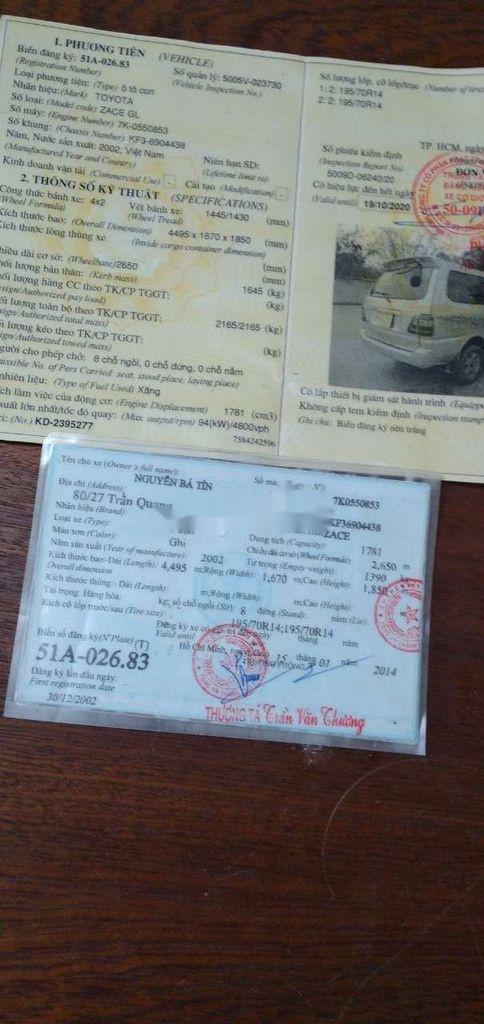 Bán Toyota Zace GL năm sản xuất 2002, xe nhập, chính chủ  (6)