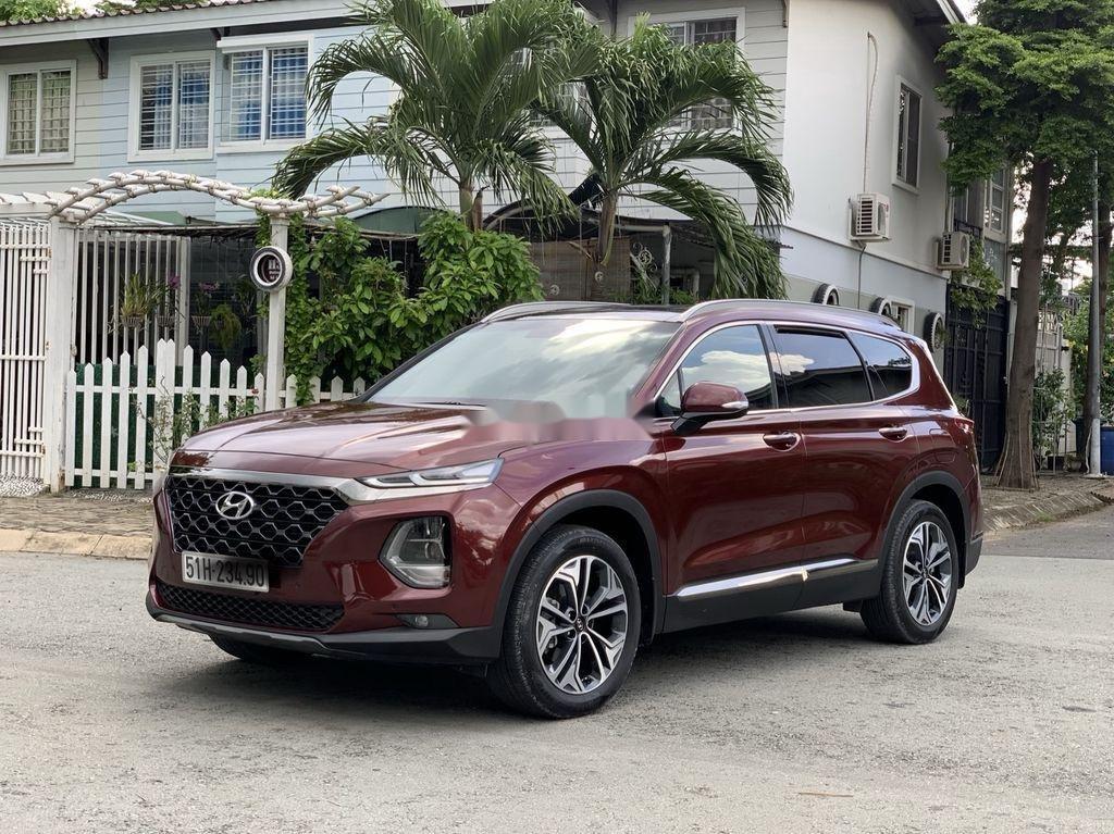 Bán Hyundai Santa Fe năm sản xuất 2019, màu đỏ   (3)