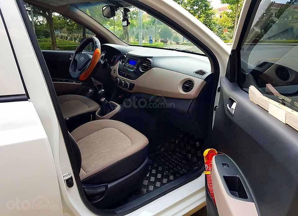 Bán ô tô Hyundai Grand i10 sản xuất năm 2015, màu trắng, nhập khẩu nguyên chiếc   (5)