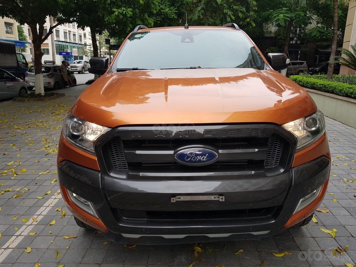 Cần bán xe Ford Ranger AT màu cam, năm sản xuất 2016, giá thấp, giao nhanh toàn quốc (1)