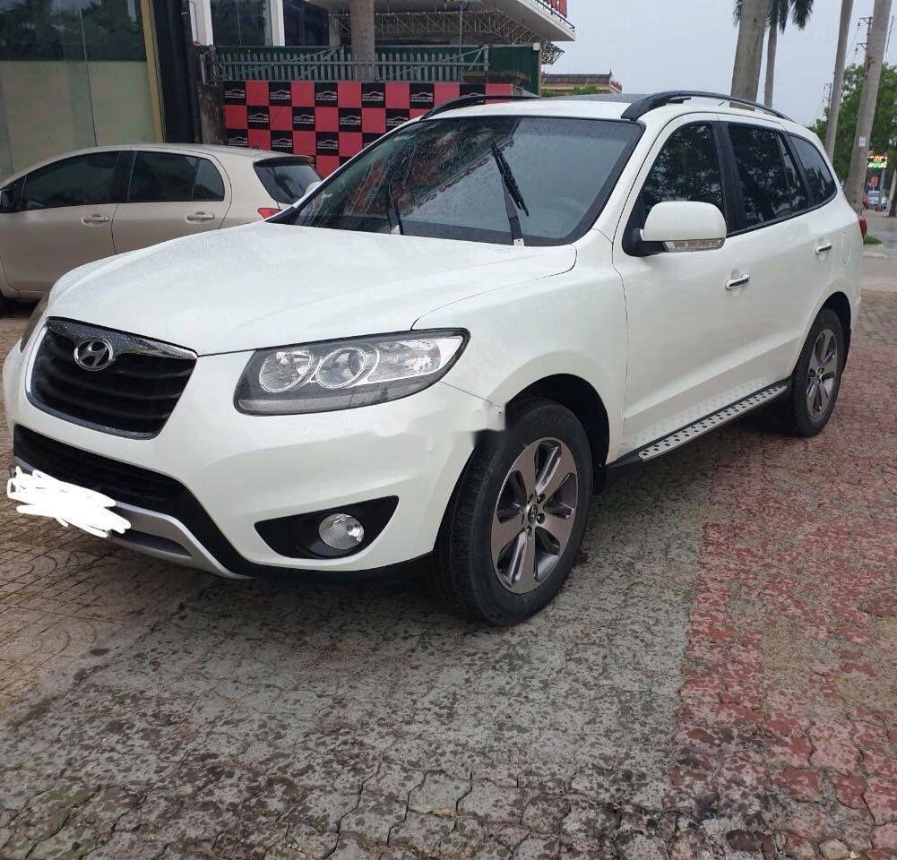 Bán Hyundai Santa Fe năm sản xuất 2011, màu trắng  (3)