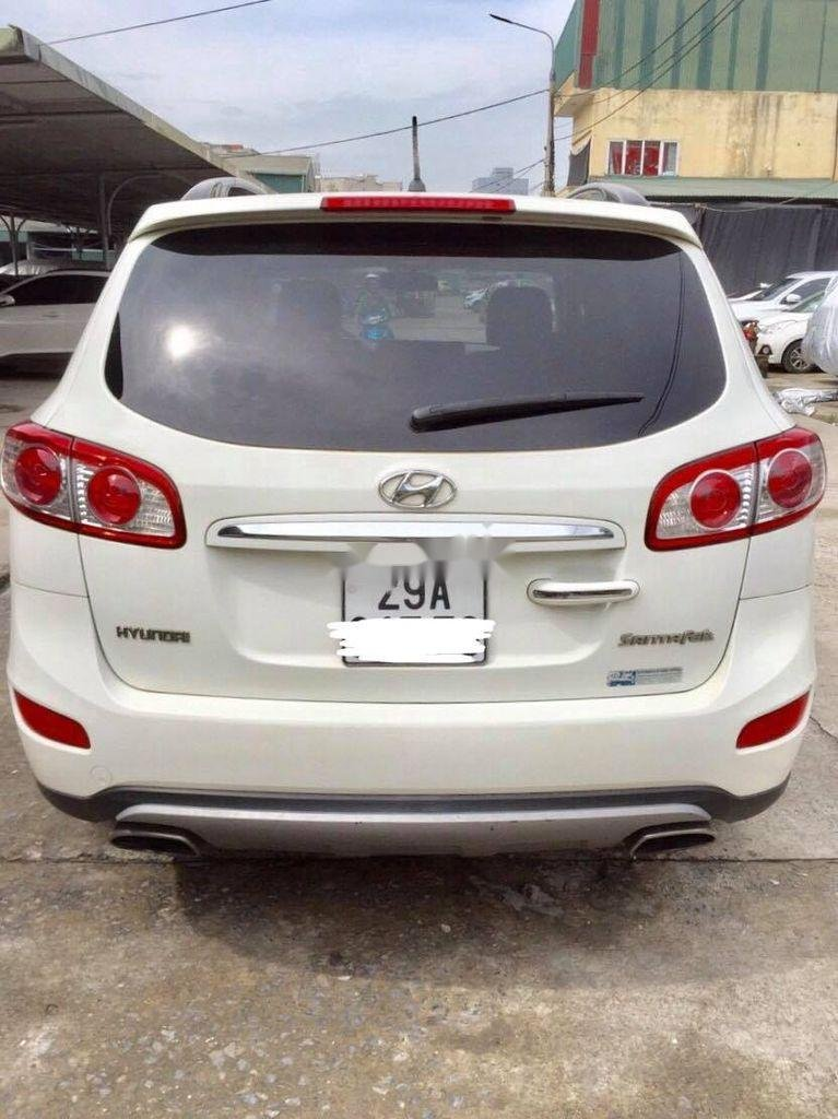 Bán Hyundai Santa Fe năm sản xuất 2011, màu trắng  (1)