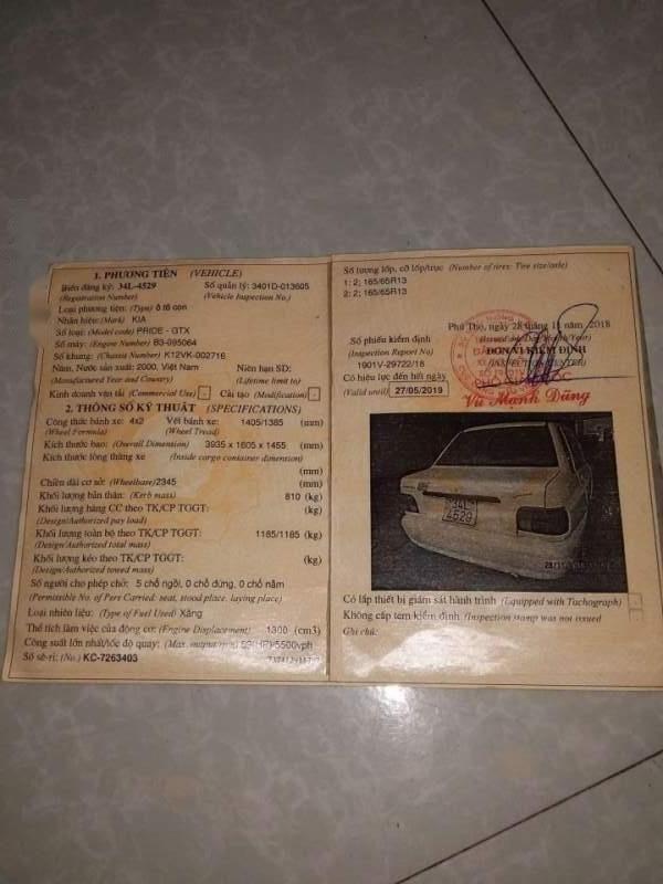 Bán xe Kia Pride đời 2000, xe nhập, giá tốt (2)