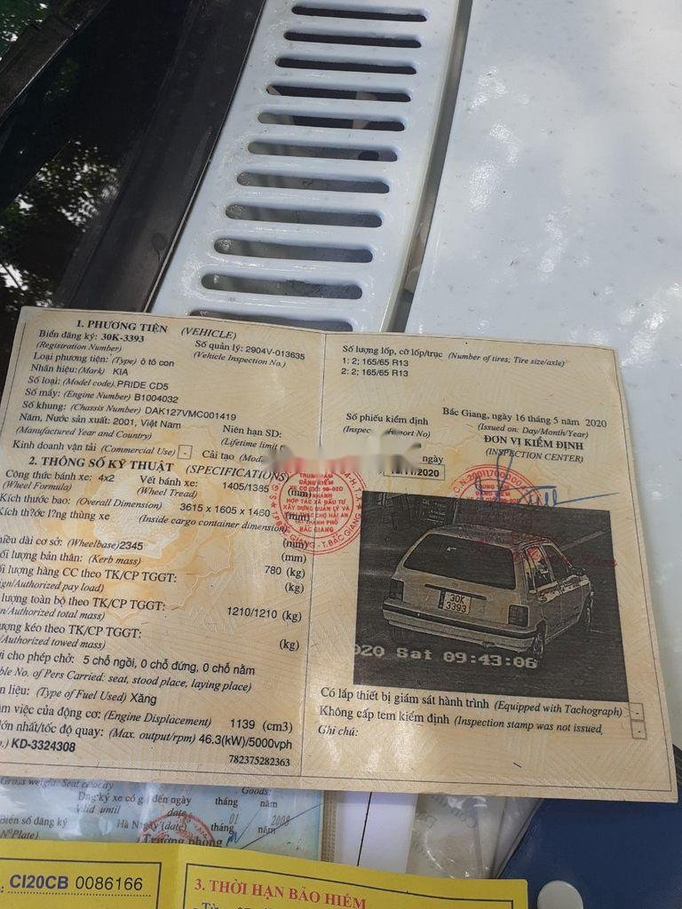 Cần bán xe Kia CD5 2001, màu trắng giá cạnh tranh (5)