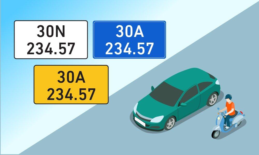 Người dân có thể chọn biển số xe theo sở thích.