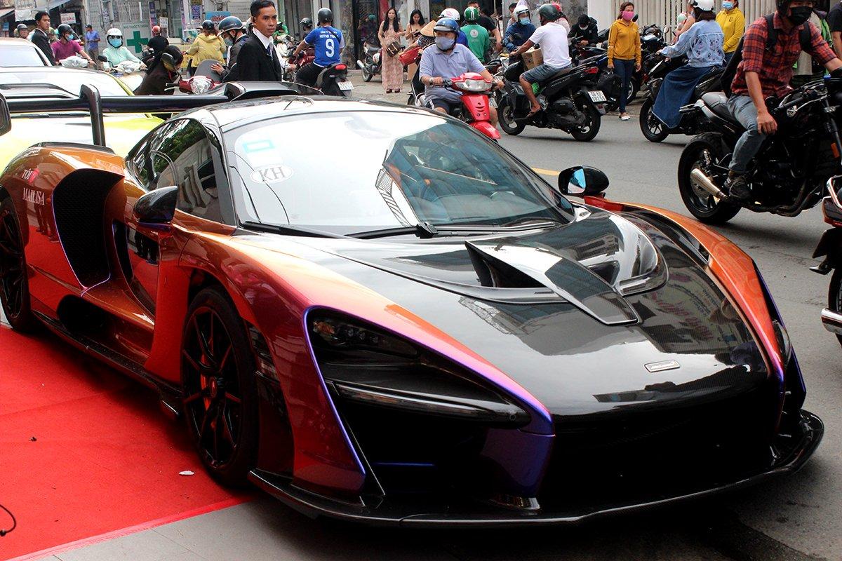 McLaren Senna độc nhất Việt Nam có lớp sơn đặc biệt.