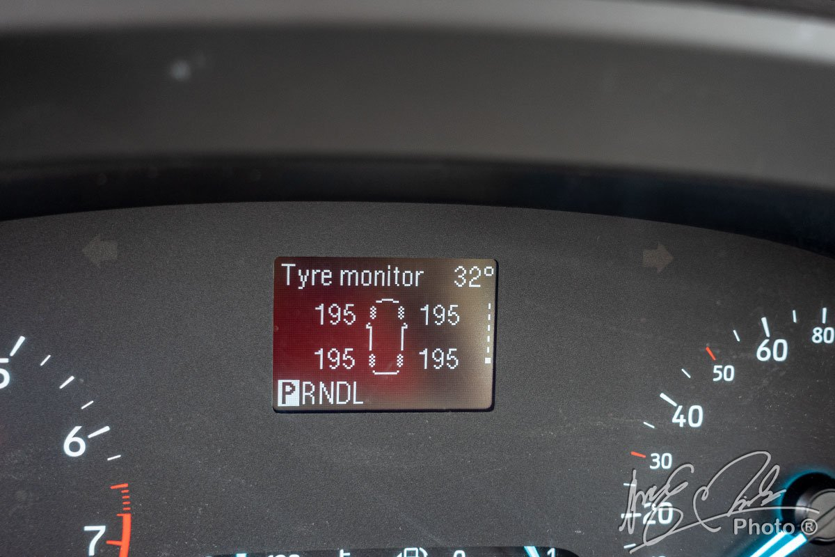 Hệ thống cảnh báo áp suất lốp trên Ford EcoSport 2020.