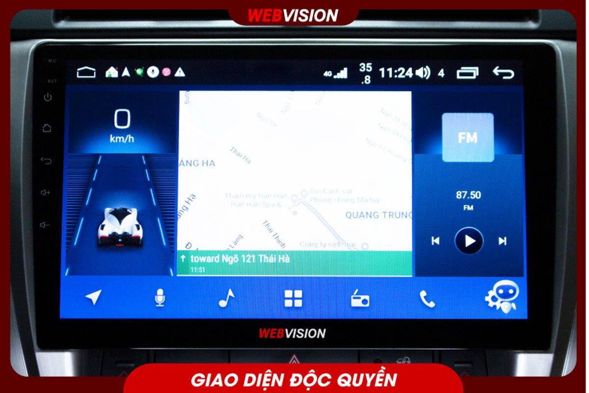 Webvision DVD X8 - Thiết kế giao diện độc quyền của Webvision.