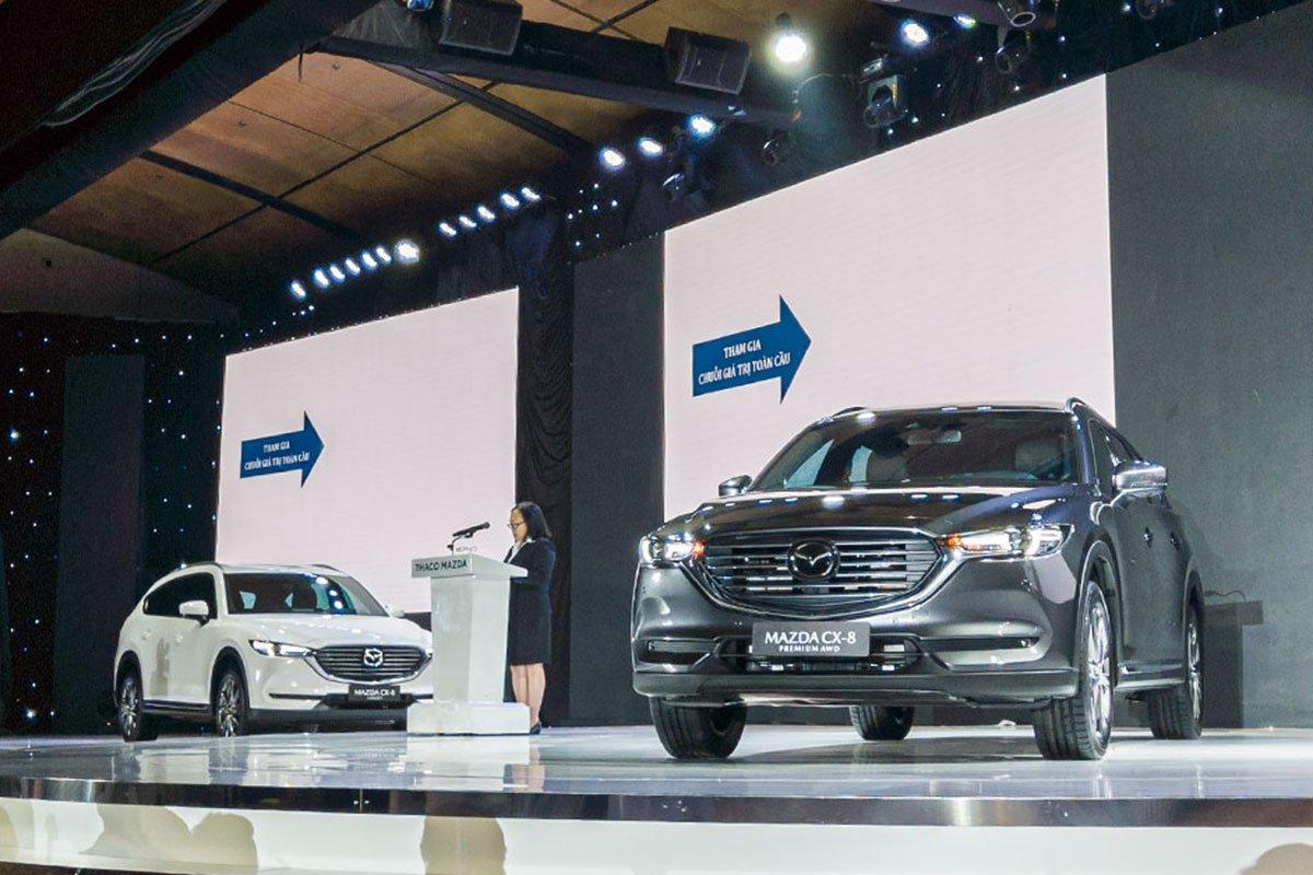 Khách mua xe Mazda CX-8 sẽ được tặng 01 năm bảo hiểm vật chất 1