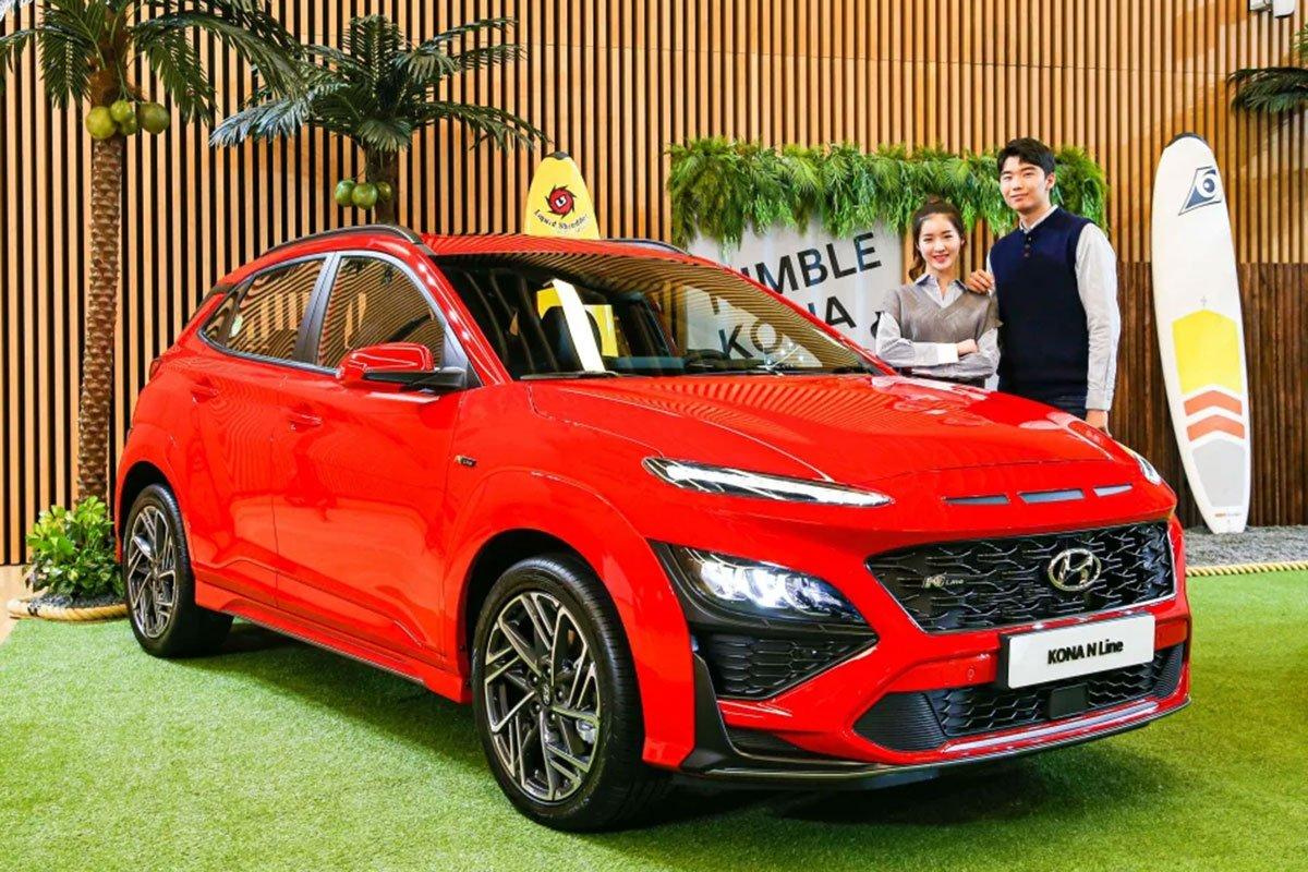Cận cảnh Hyundai Kona 2021 thực tế, hiện đại hơn, sớm về Việt Nam đấu Kia Seltos a1